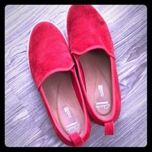 Clarks Loafers - Red